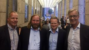 Matthias Miersch, MdB SPD, Toni Hofreiter Fraktionsvorsitzender Grüne, Frank Schwabe, MdB SPD und Dietmar Bartsch, Fraktionsvorsitzender Die Linke